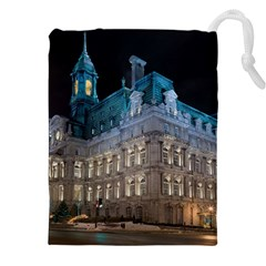 Montreal Quebec Canada Building Drawstring Pouches (XXL)