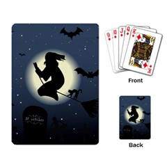Halloween Card With Witch Vector Clipart Playing Card