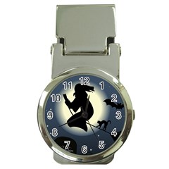 Halloween Card With Witch Vector Clipart Money Clip Watches