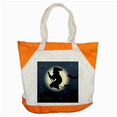 Halloween Card With Witch Vector Clipart Accent Tote Bag