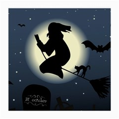 Halloween Card With Witch Vector Clipart Medium Glasses Cloth