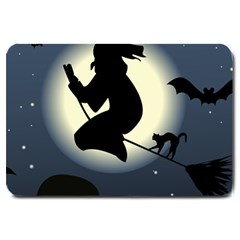 Halloween Card With Witch Vector Clipart Large Doormat