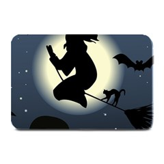Halloween Card With Witch Vector Clipart Plate Mats