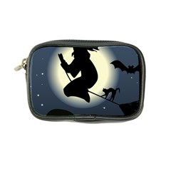Halloween Card With Witch Vector Clipart Coin Purse