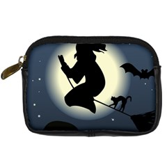 Halloween Card With Witch Vector Clipart Digital Camera Cases