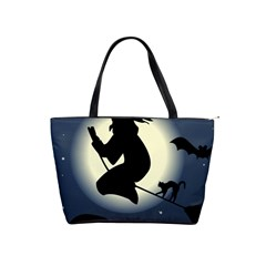 Halloween Card With Witch Vector Clipart Shoulder Handbags