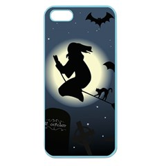 Halloween Card With Witch Vector Clipart Apple Seamless iPhone 5 Case (Color)