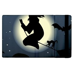 Halloween Card With Witch Vector Clipart Apple iPad 2 Flip Case
