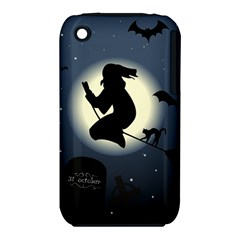 Halloween Card With Witch Vector Clipart iPhone 3S/3GS