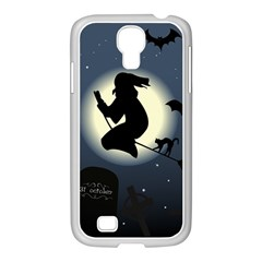 Halloween Card With Witch Vector Clipart Samsung GALAXY S4 I9500/ I9505 Case (White)
