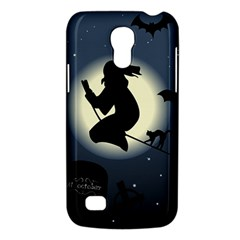Halloween Card With Witch Vector Clipart Galaxy S4 Mini