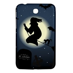 Halloween Card With Witch Vector Clipart Samsung Galaxy Tab 3 (7 ) P3200 Hardshell Case