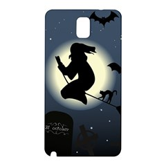 Halloween Card With Witch Vector Clipart Samsung Galaxy Note 3 N9005 Hardshell Back Case