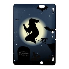 Halloween Card With Witch Vector Clipart Kindle Fire Hdx 8 9  Hardshell Case