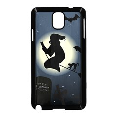 Halloween Card With Witch Vector Clipart Samsung Galaxy Note 3 Neo Hardshell Case (Black)