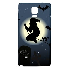 Halloween Card With Witch Vector Clipart Galaxy Note 4 Back Case
