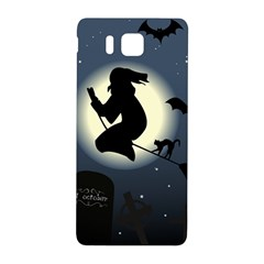 Halloween Card With Witch Vector Clipart Samsung Galaxy Alpha Hardshell Back Case