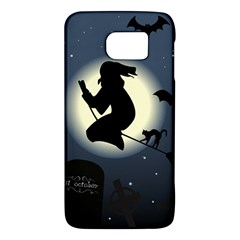 Halloween Card With Witch Vector Clipart Galaxy S6