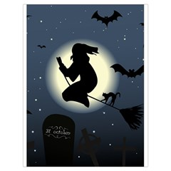 Halloween Card With Witch Vector Clipart Drawstring Bag (Large)