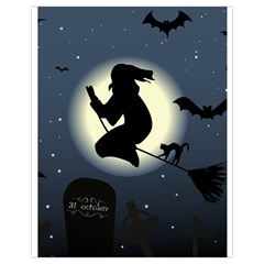 Halloween Card With Witch Vector Clipart Drawstring Bag (Small)