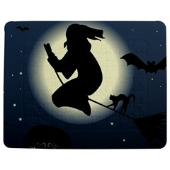 Halloween Card With Witch Vector Clipart Jigsaw Puzzle Photo Stand (Rectangular)