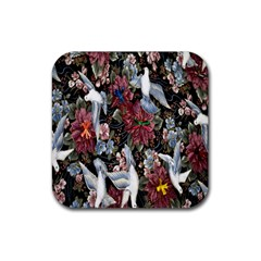 Quilt Rubber Square Coaster (4 pack)
