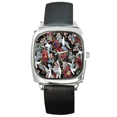 Quilt Square Metal Watch