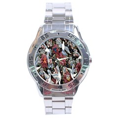 Quilt Stainless Steel Analogue Watch