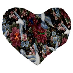 Quilt Large 19  Premium Flano Heart Shape Cushions