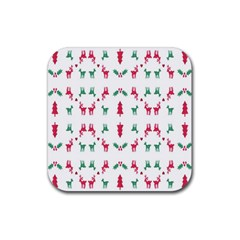 Reindeer Pattern Rubber Coaster (Square)