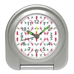 Reindeer Pattern Travel Alarm Clocks