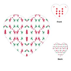 Reindeer Pattern Playing Cards (Heart)