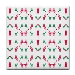 Reindeer Pattern Face Towel
