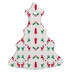 Reindeer Pattern Christmas Tree Ornament (Two Sides)