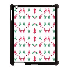 Reindeer Pattern Apple Ipad 3/4 Case (black)