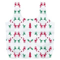Reindeer Pattern Full Print Recycle Bags (l)