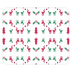 Reindeer Pattern Double Sided Flano Blanket (small)