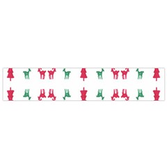 Reindeer Pattern Flano Scarf (Small)