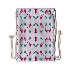 Reindeer Pattern Drawstring Bag (Small)