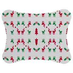 Reindeer Pattern Jigsaw Puzzle Photo Stand (Bow)