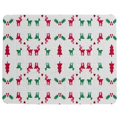 Reindeer Pattern Jigsaw Puzzle Photo Stand (Rectangular)