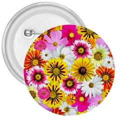 Flowers Blossom Bloom Nature Plant 3  Buttons