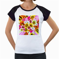 Flowers Blossom Bloom Nature Plant Women s Cap Sleeve T