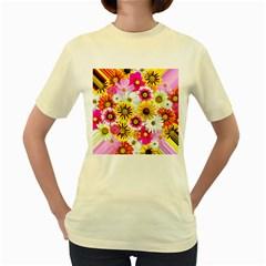 Flowers Blossom Bloom Nature Plant Women s Yellow T-Shirt