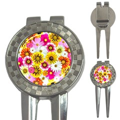 Flowers Blossom Bloom Nature Plant 3-in-1 Golf Divots