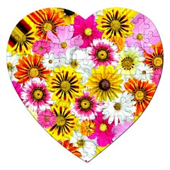 Flowers Blossom Bloom Nature Plant Jigsaw Puzzle (Heart)