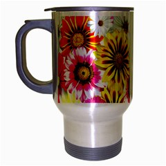 Flowers Blossom Bloom Nature Plant Travel Mug (Silver Gray)