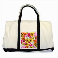 Flowers Blossom Bloom Nature Plant Two Tone Tote Bag