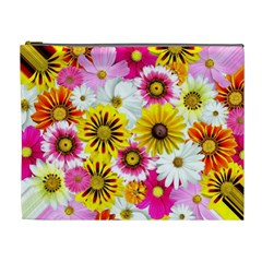 Flowers Blossom Bloom Nature Plant Cosmetic Bag (XL)