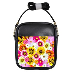 Flowers Blossom Bloom Nature Plant Girls Sling Bags